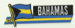 Bahamas Embroidered Flag Patch, style 01.